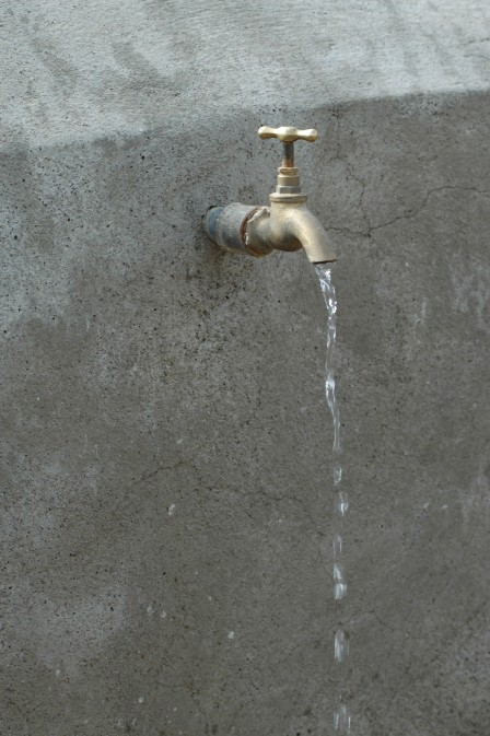 a tap in Busa flows with clean water
